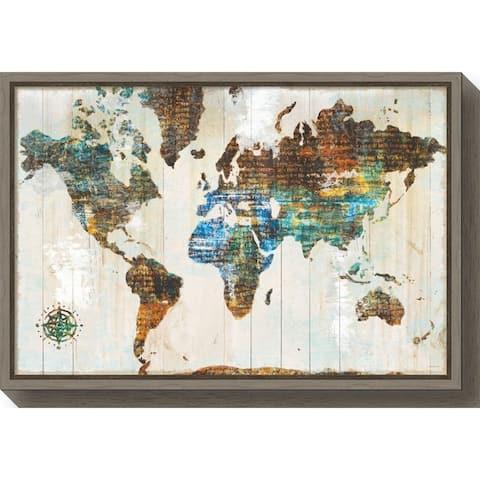 Canvas Art Framed 'World of Wonders' by Sue Schlabach