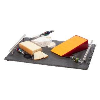 Slate Large Cheese Board W/Handles