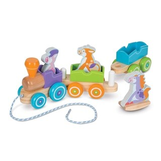 Rocking Farm Animals Pull Train - N/A