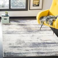 Safavieh Adirondack Modern Abstract Light Grey/ Black Distressed Rug - 8' x 10'