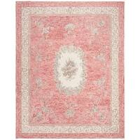 Safavieh Handmade Aubusson Traditional Oriental Red / Ivory Wool Rug - 8' X 10'