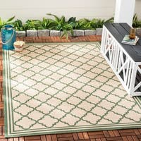 Safavieh Beach House Transitional Geometric Cream / Green Rug - 8' x 10'
