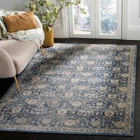 Safavieh Brentwood Traditional Oriental Navy / Cream Rug - 8' x 10'