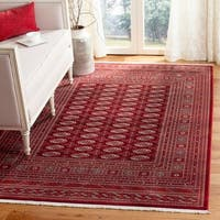 Safavieh Bokhara Traditional Oriental Red / Ivory Polyester Rug - 8' x 10'