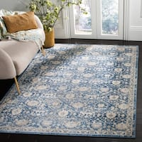 Safavieh Brentwood Traditional Oriental Navy / Cream Rug - 9' x 12'