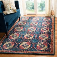 Safavieh Handmade Heritage Traditional Oriental Navy / Red Wool Rug - 8' X 10'
