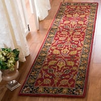 Safavieh Handmade Heritage Traditional Oriental Red / Gold Wool Rug - 8' x 10'