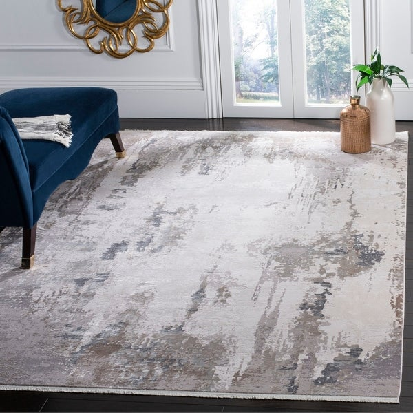 Safavieh Eclipse Kandy Vintage Boho Abstract Viscose Rug with Fringe