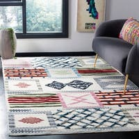 Safavieh Hand-Knotted Kenya Patchwork Ivory Wool Rug - 8' x 10'