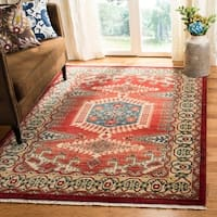 Safavieh Kashan Transitional Oriental Red / Ivory Rug - 8' x 10'