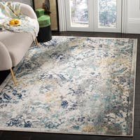 Safavieh Madison Vintage Oriental Watercolor Ivory / Blue Rug - 8' x 10'