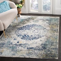 Safavieh Madison Vintage Geometric Light Grey / Blue Rug - 8' x 10'