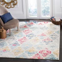 Safavieh Madison Vintage Geometric Ivory / Blue Rug - 9' x 12'