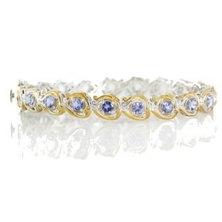 Michael Valitutti Palladium Silver Round Tanzanite Bracelet
