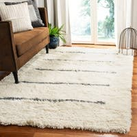 Safavieh Hand-Knotted Kenya Transitional Oriental Ivory / Grey Wool Rug - 8' x 10'