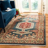 Safavieh Kashan Transitional Oriental Navy Blue / Ivory Rug - 8' x 10'