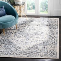 Safavieh Harbor Transitional Border Blue / Cream Rug - 9' x 12'