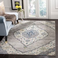 Safavieh Madison Juliet Medallion Light Grey / Blue Rug - 8' x 10'