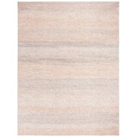 Safavieh Marseille Transitional Stripe Silver / Ivory Rug - 8' x 10'