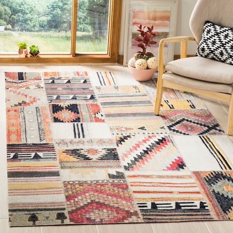 Safavieh Montage Bohemian & Eclectic Patchwork Taupe Rug - 9' x 12'
