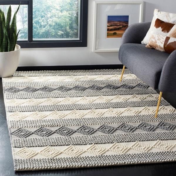 Shop Safavieh Handmade Natura Southwestern Geometric Grey