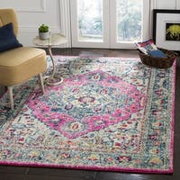 Safavieh Madison Vintage Geometric Navy / Fuchsia Rug - 8' x 10'