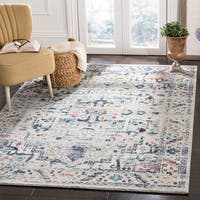 Safavieh Madison Vintage Oriental Light Grey / Fuchsia Rug - 8' x 10'