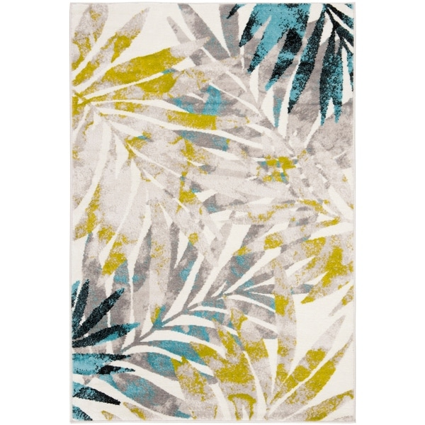 Shop Safavieh Skyler Watercolor Botanical Grey / Green Rug