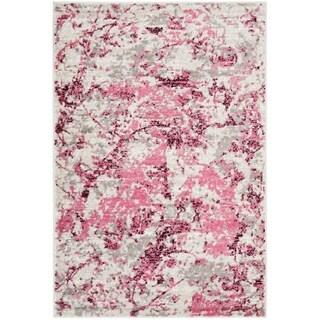 Safavieh Skyler Vintage Geometric Pink / Ivory Rug - 4' x 6'