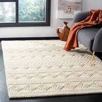 Safavieh Handmade Natura Southwestern Geometric Ivory Wool Rug - 8' X 10'