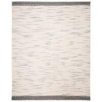 Safavieh Handmade Natura Southwestern Geometric Black / Ivory Wool Rug - 8' X 10'