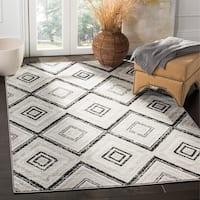 Safavieh Skyler Vintage Geometric Grey / Black Rug - 9' x 12'