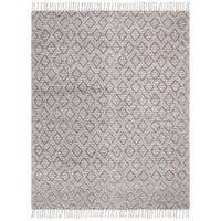 Safavieh Handmade Natura Southwestern Geometric Charcoal Wool Rug - 8' x 10'