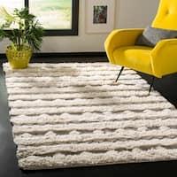 Safavieh Handmade Natura Southwestern Geometric Ivory / Grey Wool Rug - 8' x 10'