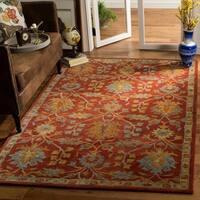 Safavieh Handmade Heritage Traditional Oriental Red Wool Rug - 3' x 5'