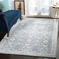 Safavieh Handmade Restoration Vintage Vintage Geometric Blue Wool Rug - 8' x 10'