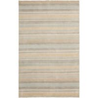 Safavieh Handmade Tibetan Modern & Contemporary Stripe Silver Wool Rug - 9' x 12'