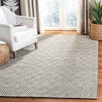 Safavieh Handmade Vermont Transitional Geometric Ivory / Black Wool Rug - 8' x 10'