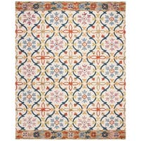 Safavieh Hand-Hooked Suzani Bohemian & Eclectic Southwestern Ivory Wool Rug - 8' x 10'