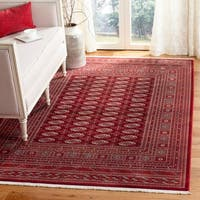 Safavieh Bokhara Traditional Oriental Red / Ivory Polyester Rug - 5' x 7'6""