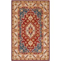 Safavieh Handmade Antiquity Traditional Oriental Red / Blue Wool Rug - 6' x 9'