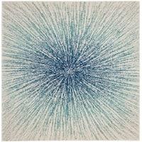 Safavieh Evoke Nova Abstract Burst Royal Blue/ Ivory Rug - 9' x 9' Square