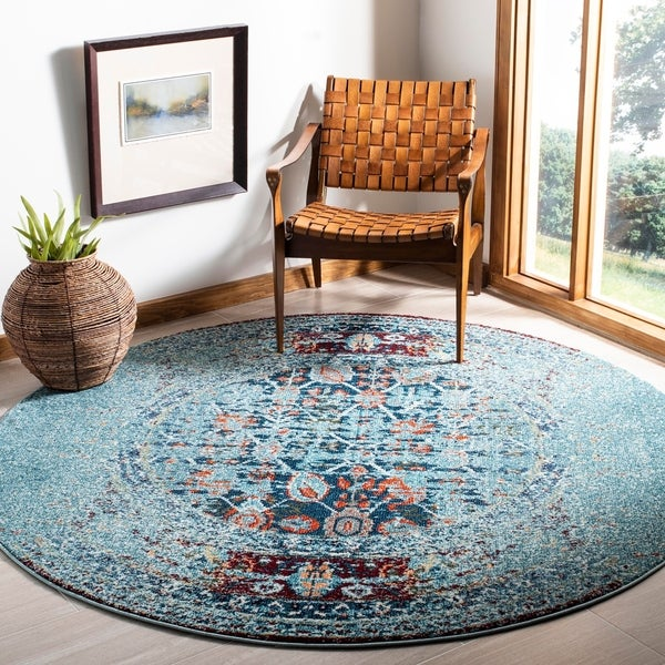 Shop Safavieh Monaco Vintage Distressed Weave Blue Multi