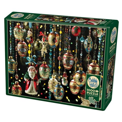 Cobble Hill: Christmas Ornaments 1000 Piece Jigsaw Puzzle