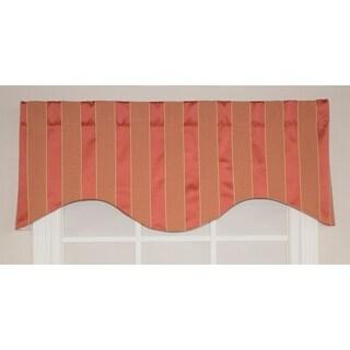 RLF Home Ribbon Stripe Cornice Window Valance - Red