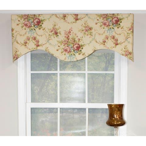 RLF Home Pavillion Scroll Cornice Window Valance - Antique