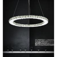 Chrome-finished Stainless Steel LED Chandelier