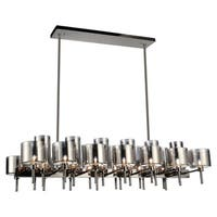 26 Light Chandelier with Pearl Black Finish