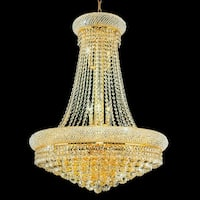 17-light Gold Stainless Steel Chandelier