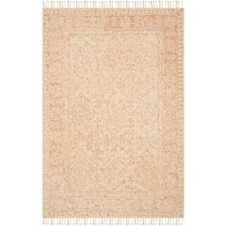 Safavieh Handmade Aspen Bohemian Southwestern Ivory / Blush Wool Rug - 9' x 12'
